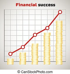Financial success concept
