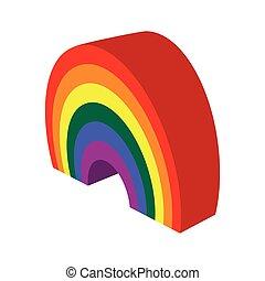 Rainbow cartoon icon