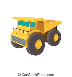 Big truck cartoon icon isolated on a white background