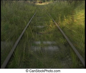narrow-gauge railway - move on narrow-gauge railway hand car...