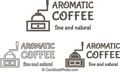 Set of Vector Coffee mill Elements and Cafe Accessories Illustration. Can be used as Logo, Label in restaurant, for infographics, web sites or prints. Premium quality, hipster design