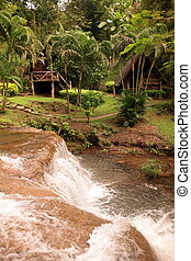 ASIA THAILAND CHIANG MAI FANG WASSERFALL - a waterfall in...