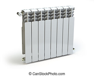 Heating radiators isolated on white background 3d