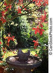 Ornamental Bird Bath - A stone constructed ornamental bird...