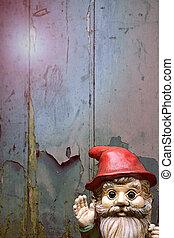 Garden Gnome - An illustration of a small bearded garden...