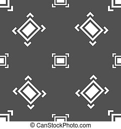 Crops and Registration Marks icon sign Seamless pattern on a...