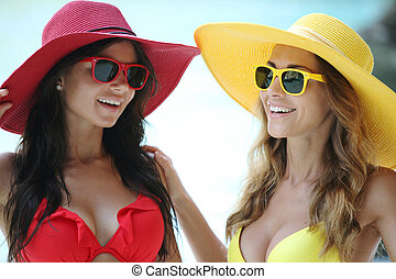 Female friends on vacation