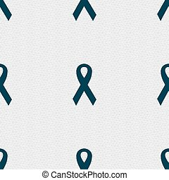 ribbon, breast cancer awareness month icon sign Seamless...