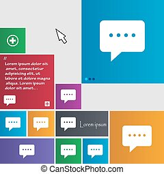 Speech bubbles icon sign. buttons. Modern interface website buttons with cursor pointer. Vector