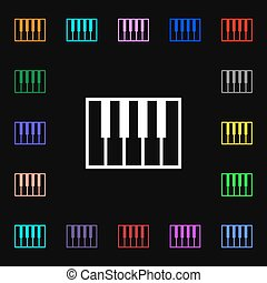 piano key icon sign Lots of colorful symbols for your design...