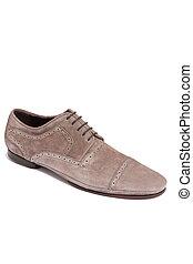 brown suede men shoe