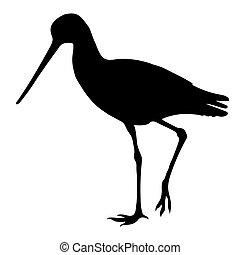 Sandpiper Birds Silhouettes