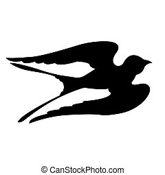 Swallow Birds Silhouettes