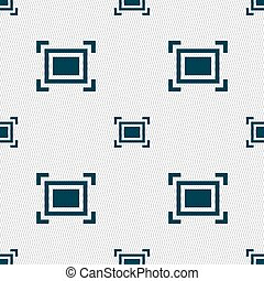 Crops and Registration Marks icon sign Seamless pattern with...