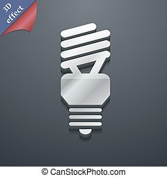 fluorescent lamp icon symbol. 3D style. Trendy, modern design with space for your text Vector