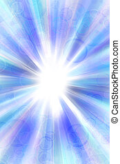 Abstract background - Bright abstract blue and white...