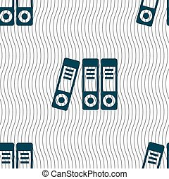 binders icon sign Seamless pattern with geometric texture...