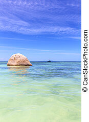 asia in kho rocks pirogue and sea - asia in thailand kho tao...