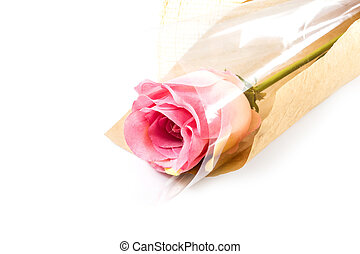 Pink fabric roses