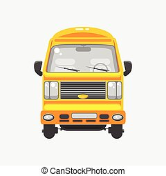 Delivery truck front view - Stock vector illustration...