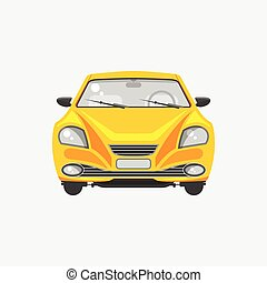 Sedan car front view - Stock vector illustration isolated...
