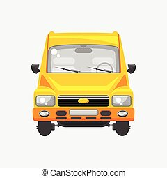 Minibus front view - Stock vector illustration isolated...
