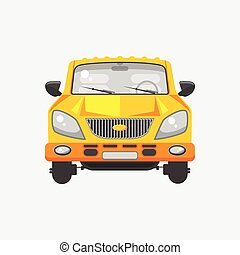 Minivan car front view - Stock vector illustration isolated...