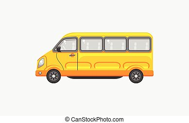 Minibus side view - Stock vector illustration isolated...