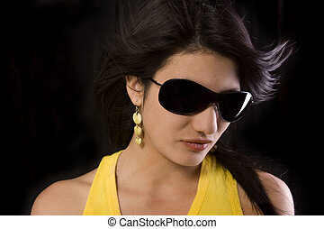 Girl with glasses - A nice girl modeling