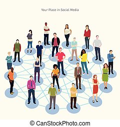 social network conceptual illustration