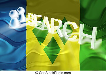 Flag of Saint Vincent and Grenadines wavy search - Flag of...