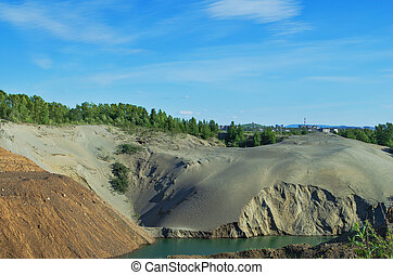 Abandoned sand quarry - The environmental problem Abandoned...