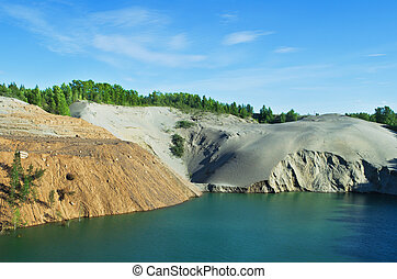 Abandoned sand quarry - The environmental problem. Abandoned...