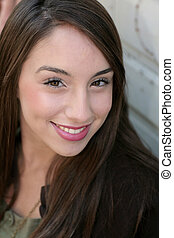 young adult headshot - one pretty young adult woman headshot...