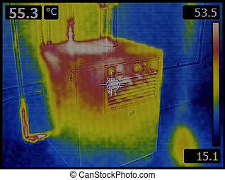 Heat Dissipation Thermal Image - Central Heating Furnace...