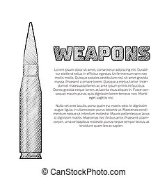 Vintage weapons poster Editable EPS10 vector illustration