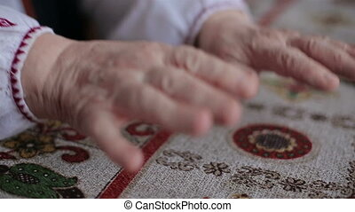 Hands of old woman HD