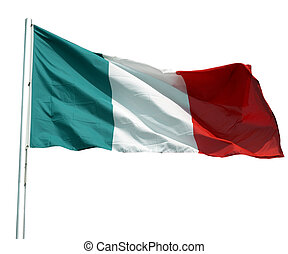 Italian flag - The national Italian flag of Italy (IT) -...