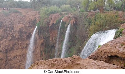 Ouzoud Waterfalls located in the Grand Atlas village of...