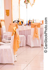 wedding chair and table setting for fine dining