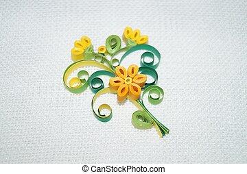 Quilling, kwiat,