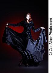 dancing vampire - Full length portrait of a gorgeous vampire...