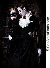 evil carnival - Gorgeous couple of vampires dressed in...