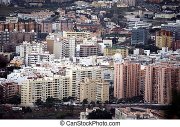 SPAIN CANARY ISLANDS TENERIFE - The view of the City of...