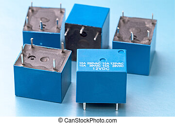 Sealed electromagnetic relays with voltage 12 volt trigger