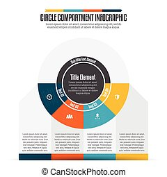Circle Compartment Infographic - Vector illustration of...