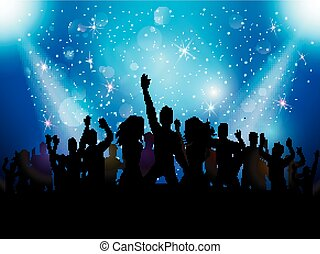 Party people in club - vector illustration of Party people...