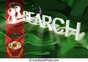 Flag of Turkmenistan wavy search