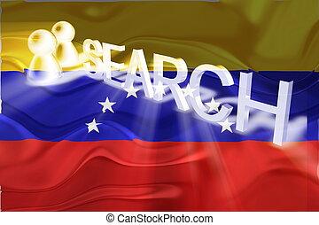bandera, ondulado,  venezuela, búsqueda