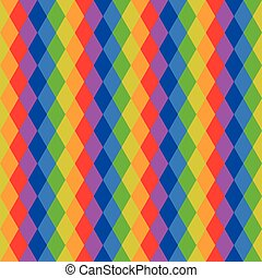 Abstract multicolored geometric seamless pattern of rhombus